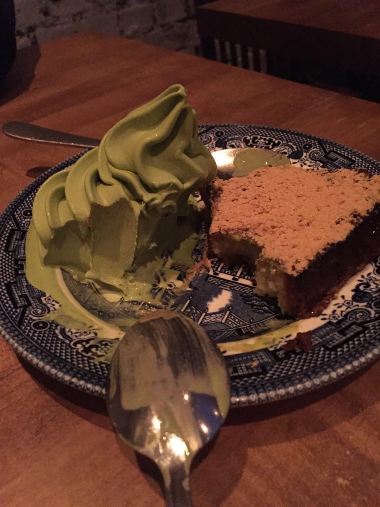 Green Tea Ice Cream + French Toast