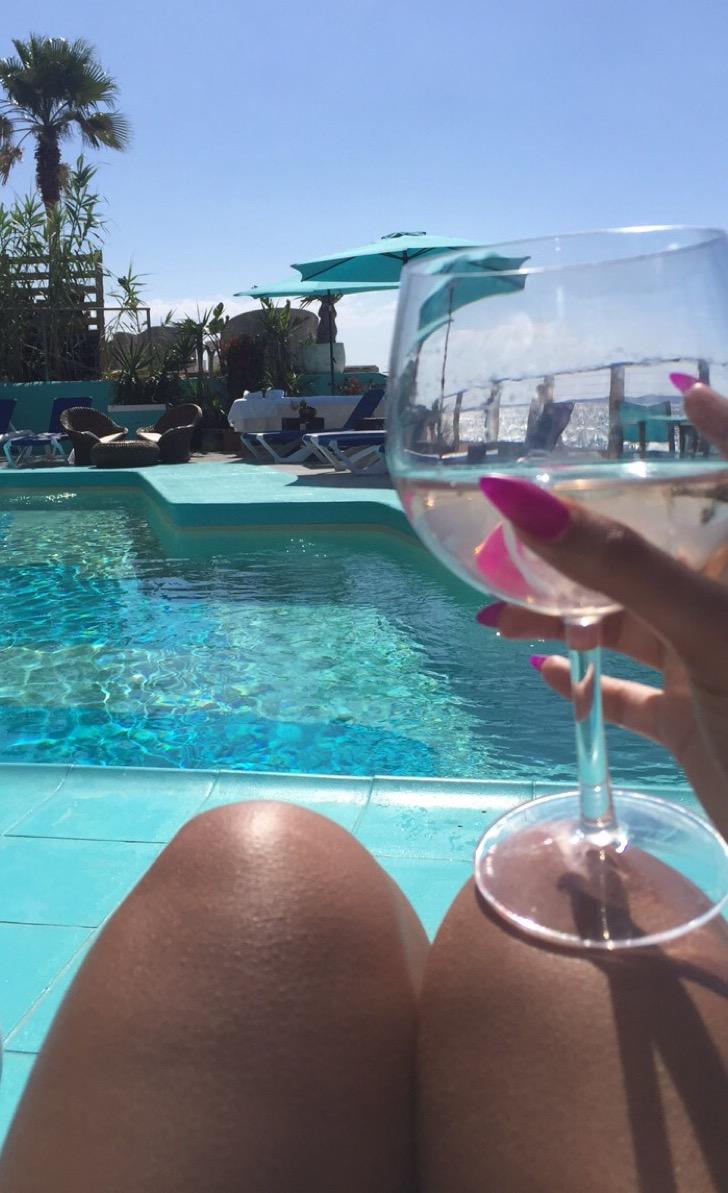 Rosé Spritzer at Kanya Pool