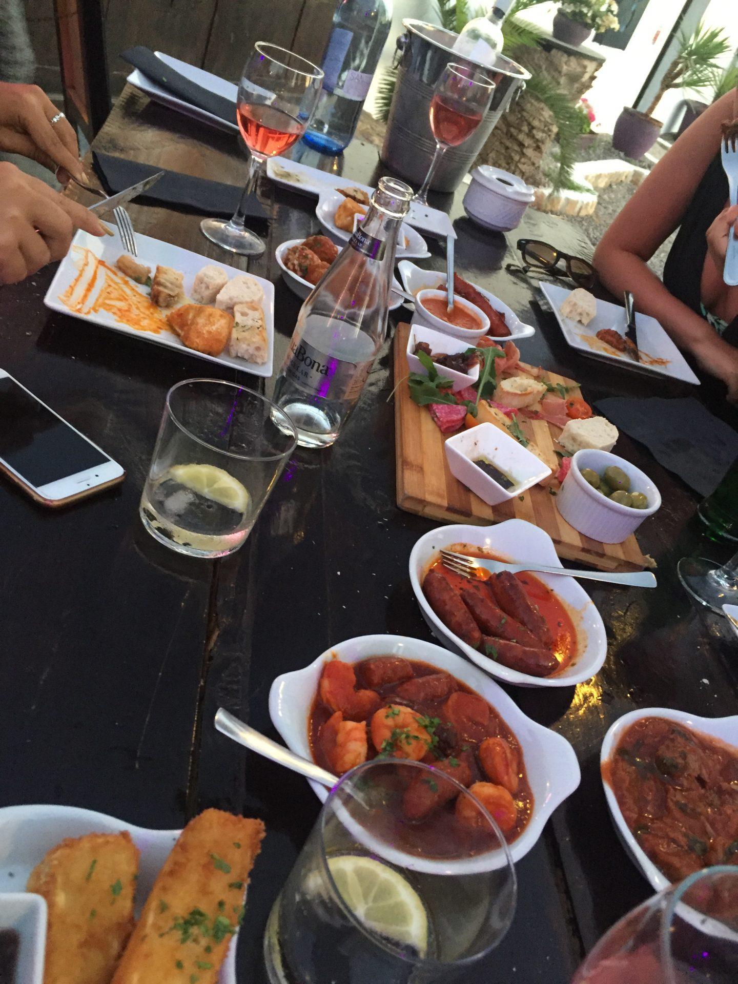 Last Meal at Tapas Ibiza