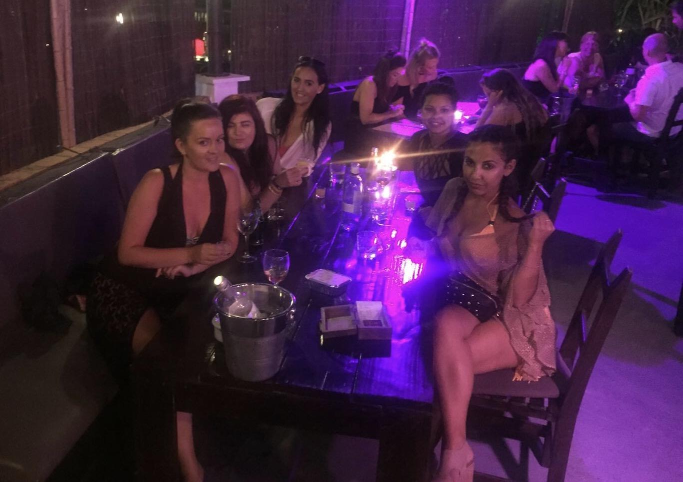 Girls at Tapas Ibiza