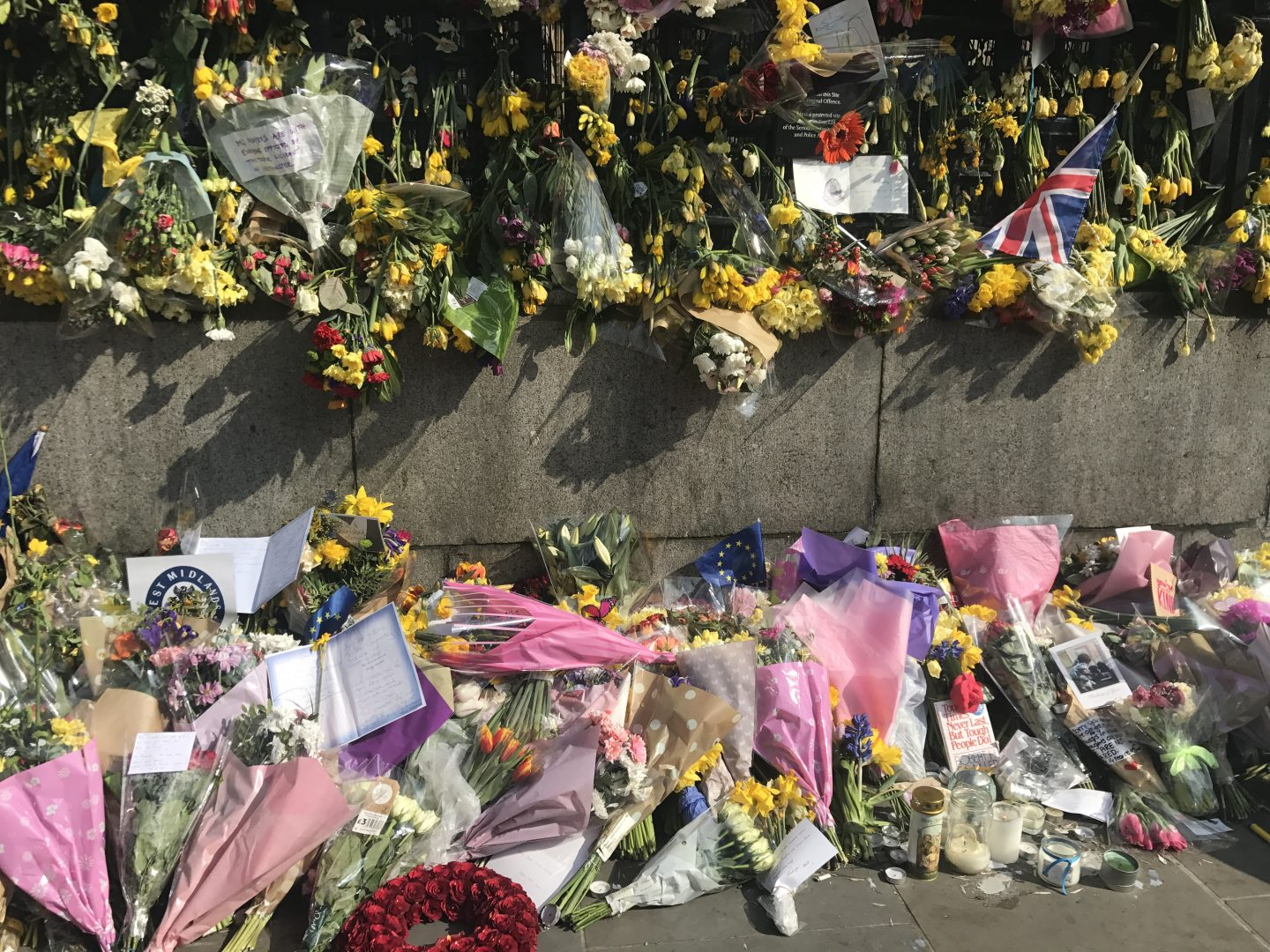 Messages and Flowers at Westminster