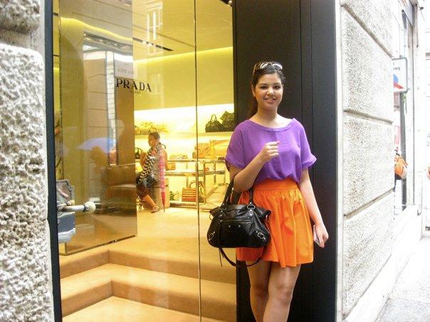 Shopping at Prada in Milan