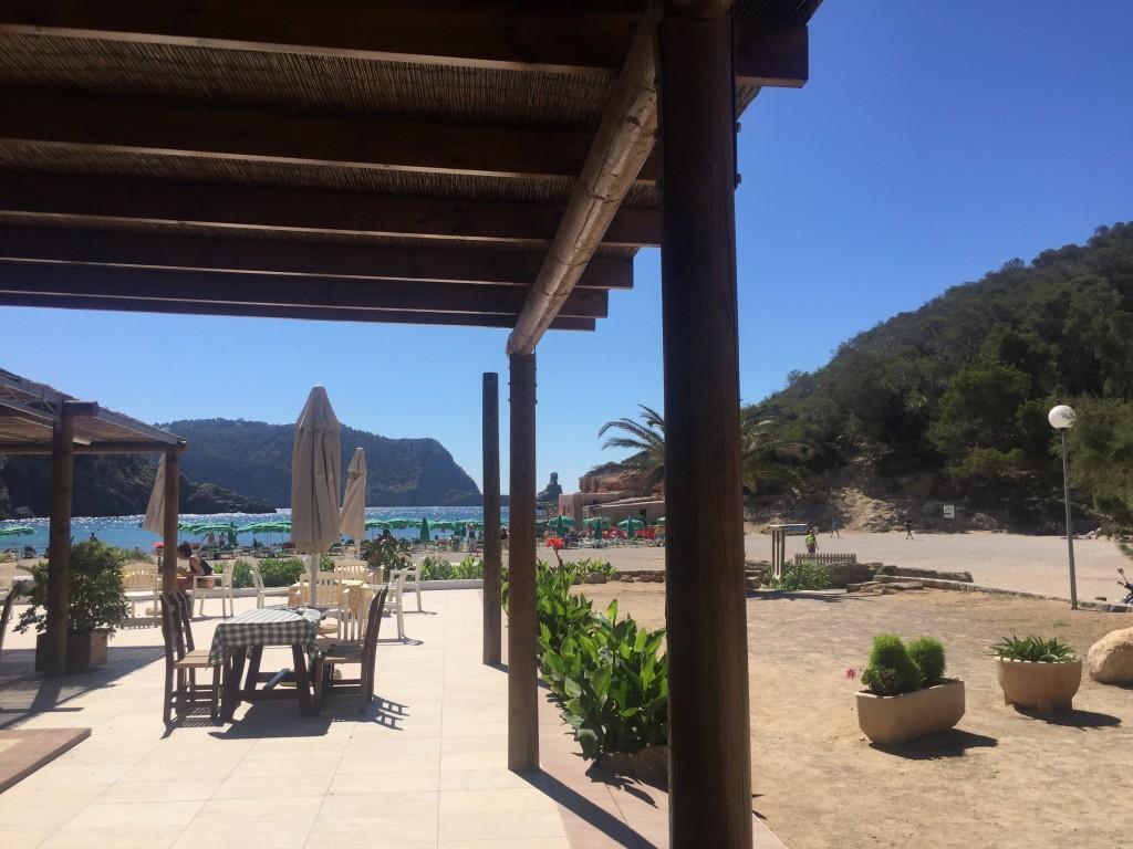 View from Beach Café Cala Benirrás