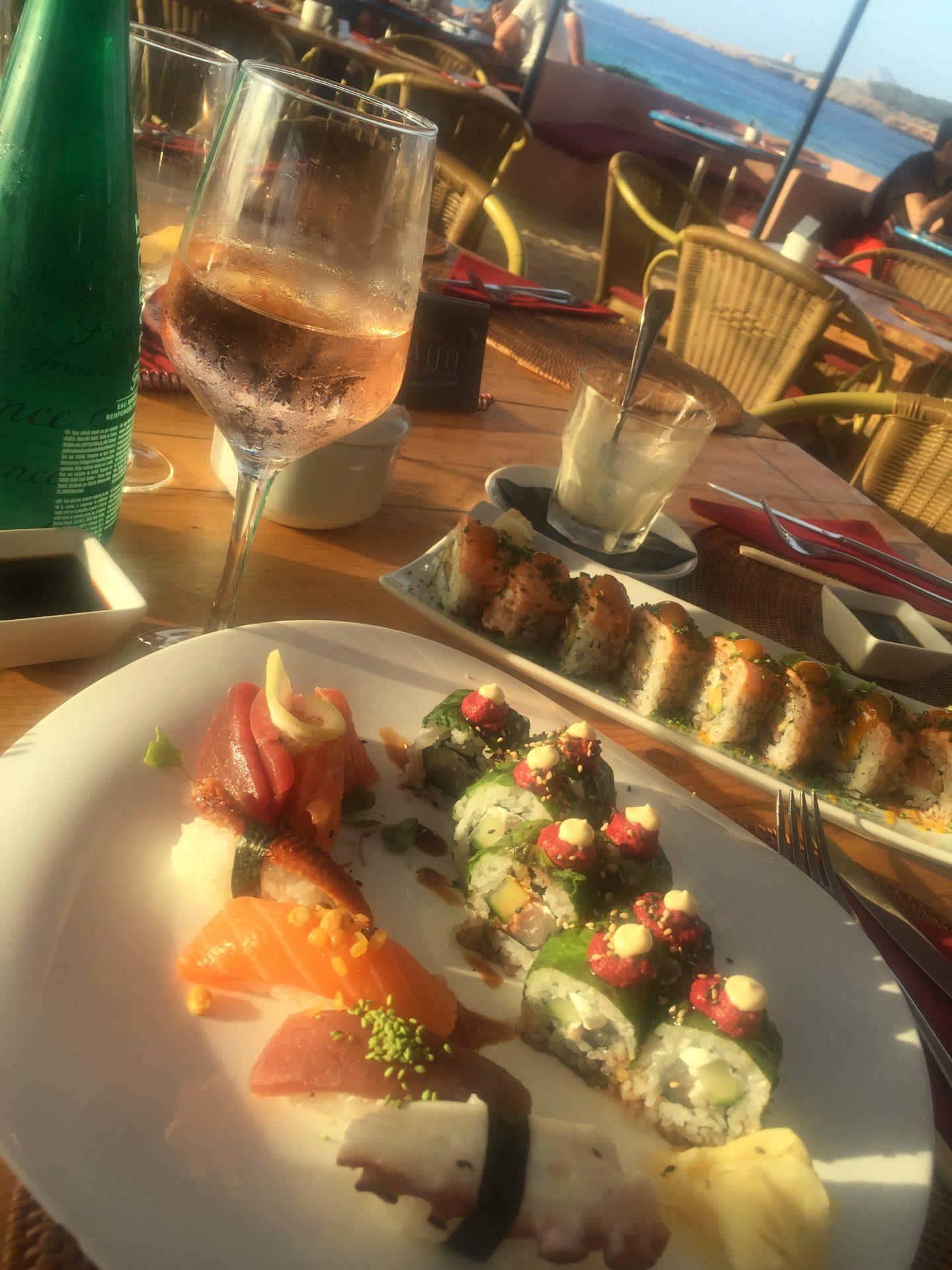 Sushi + Rose at Sunset Ashram