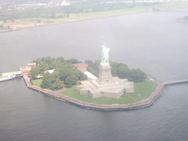 Helicopter over Liberty Island 2006
