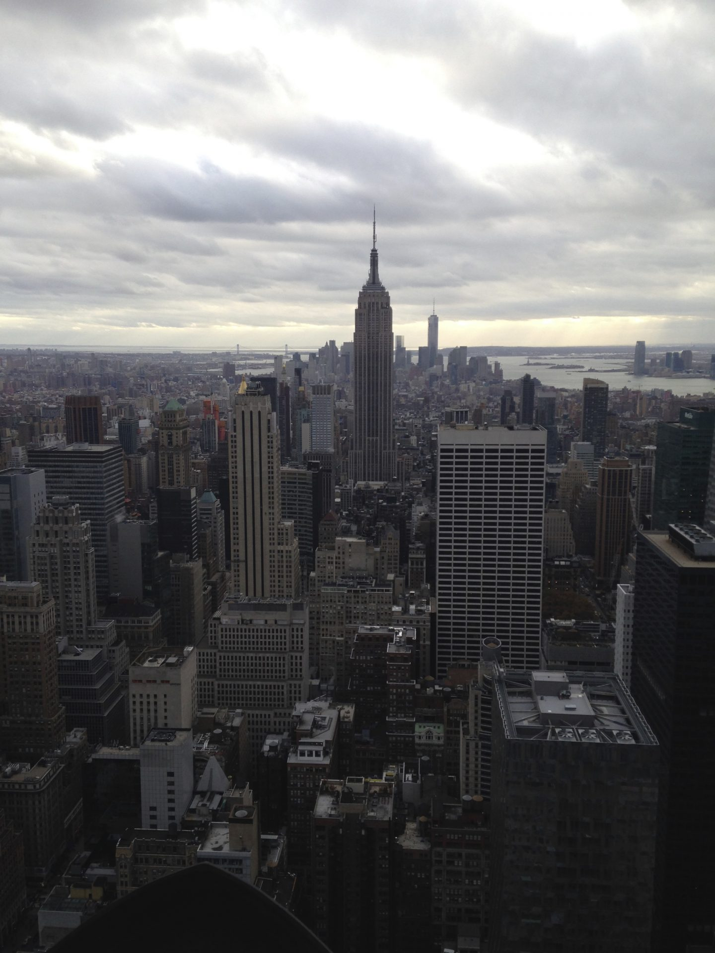 View of Empire State from Top of The Rock