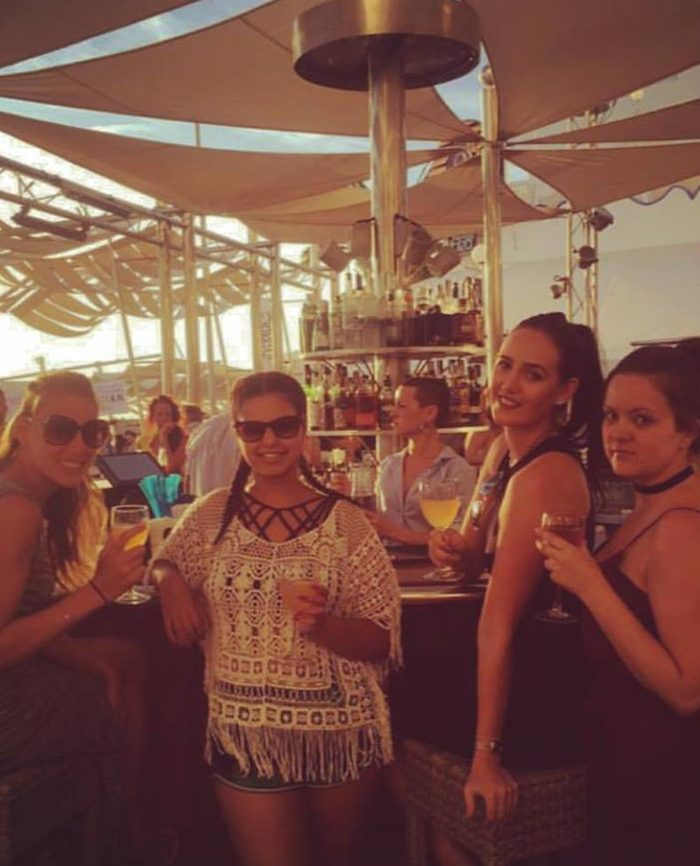 Girls at Cafe del Mar