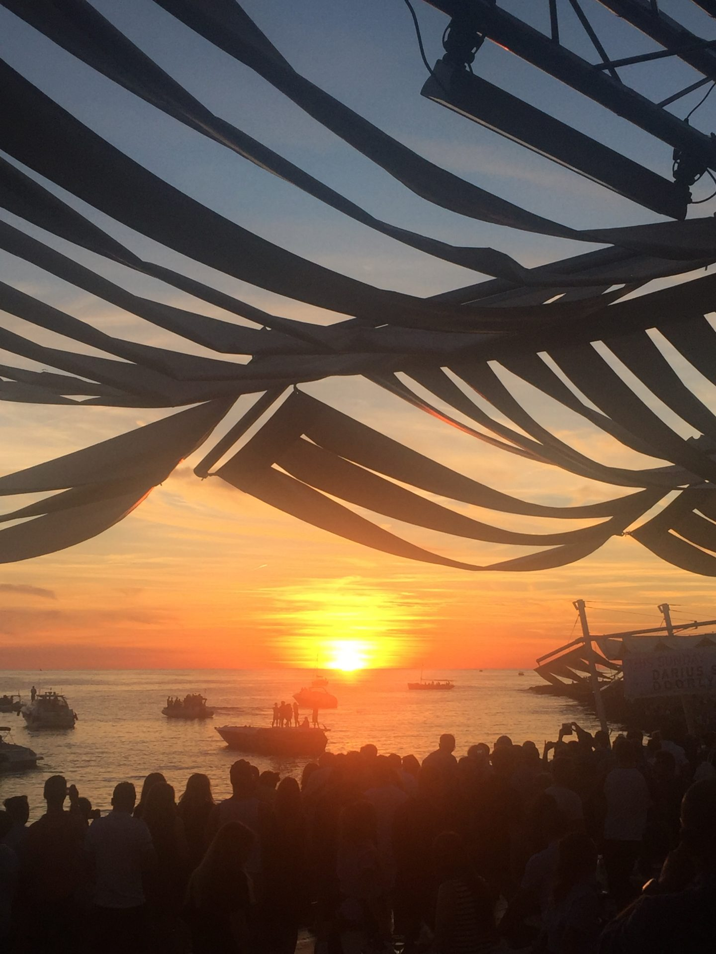 Sunset from Cafe del Mar