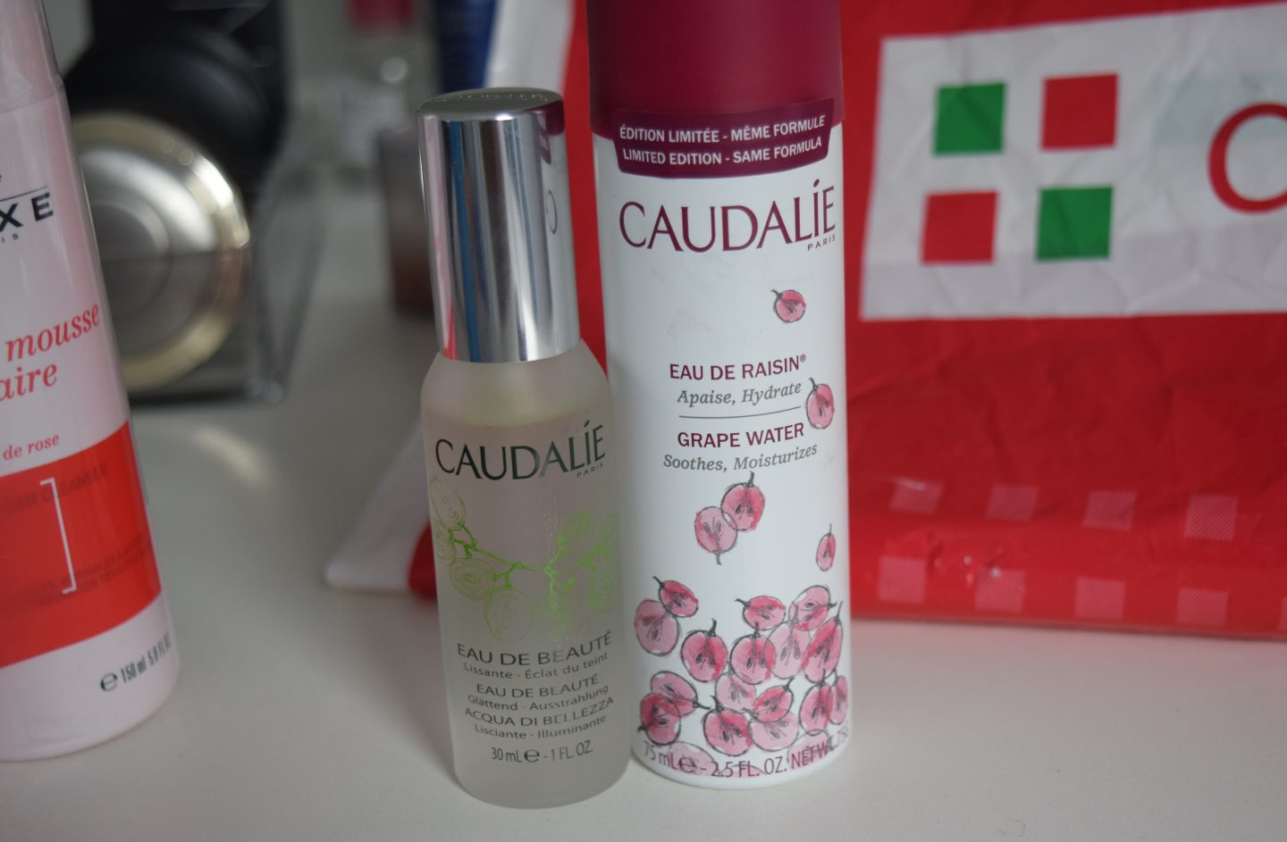 Caudalie Beauty Elixer and Grape Water