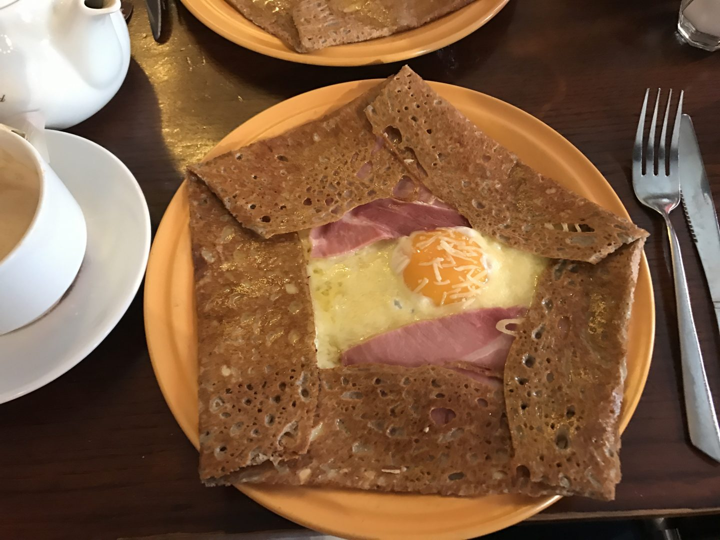 Cheese and Ham Crepe at Crêperie Plougastel
